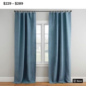 NEW Pottery Barn Belgian Linen Drape Set(blackout)